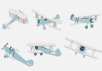 Biplane Illustration Vector - Kostenloses vector #380789