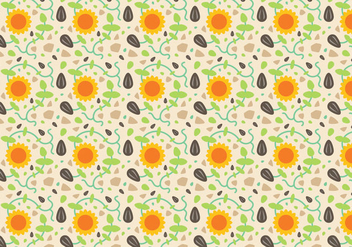 Free Sunflower Pattern Vector - vector gratuit #380799