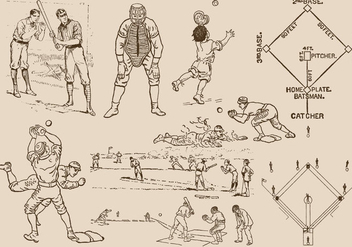 Baseball Drawings - Free vector #380869