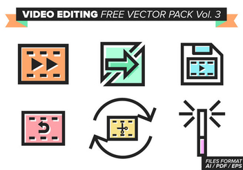 Video Editing Free Vector Pack Vol. 3 - бесплатный vector #380969
