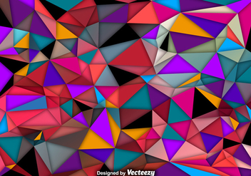 Vector Abstract Background Of Colorful Polygons - Kostenloses vector #381229
