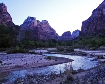 Purple Dawn, Virgin River, Zion NP 5-14 - Free image #381339