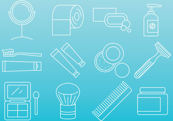 Beauty And Hygiene Icons - vector #381369 gratis