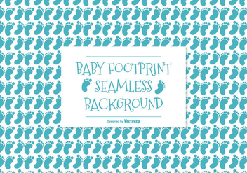 Baby Footprint Seamless Pattern Background - Free vector #381379
