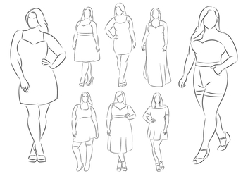 Plus Size Female Model - Kostenloses vector #381389