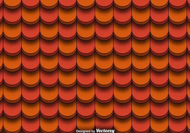 Seamless Pattern Of Red Clay Roof Tiles Vector - Free vector #381459