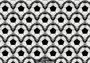 Vector Seamless Pattern With Abstract Football Balls - vector gratuit #381469