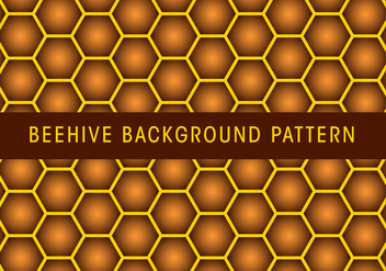 Beehive Background Pattern - Kostenloses vector #381489