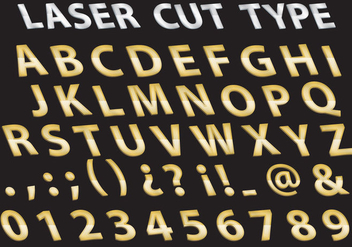 Metal Laser Cut type - vector #381539 gratis
