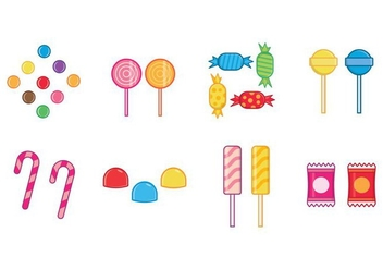 Free Candies Vector - vector #381609 gratis