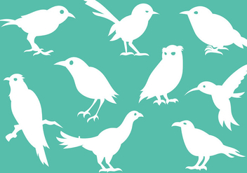 Free Bird Silhouette Icons Vector - Free vector #381639
