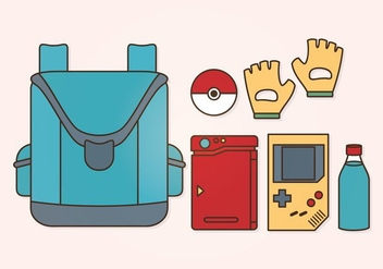 Vector Pokemon Accessories Set - vector gratuit #381649