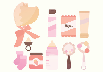 Vector Baby Accessories - vector #381659 gratis