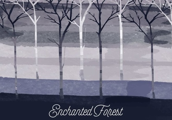 Vector Enchanted Forest Illustration - vector gratuit #381679