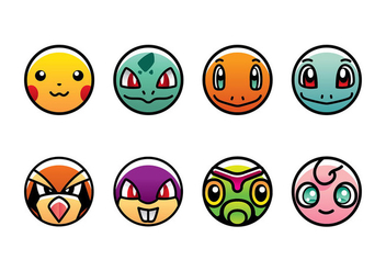 POKEMON ICON VECTOR FREE - Kostenloses vector #381789