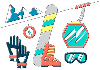 Winter Sport Elements - vector gratuit #381899