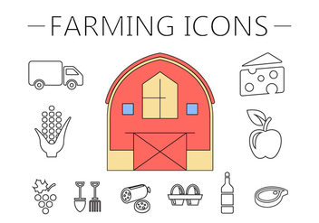 Farm Vector Illustration - vector gratuit #382009