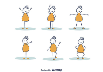 Hand Drawn Girl Exercising Vector - Kostenloses vector #382159