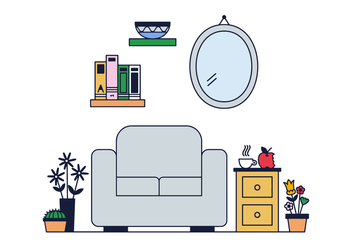 Free Living Room Vector - vector gratuit #382339