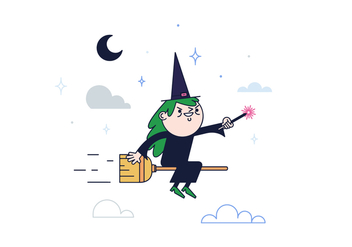 Free Witch Vector - vector gratuit #382349