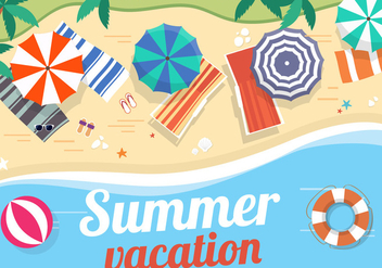 Free Vector Summer Landscape - Free vector #382499