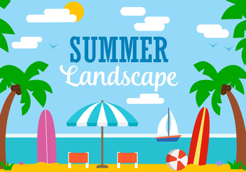 Free Vector Summer Illustration - Kostenloses vector #382529