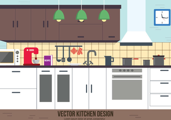 Free Kitchen Vector Design - vector gratuit #382569