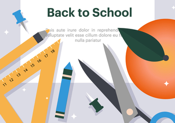 Free Flat Back to School Vector Illustration - бесплатный vector #382709