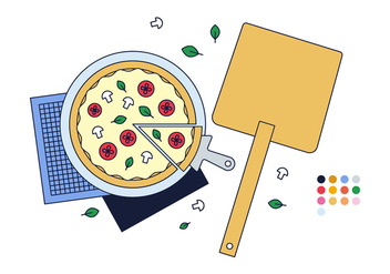 Free Pizza Vector - Free vector #382719