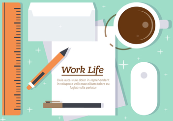 Free Work Life Vector Illustration - Free vector #382729