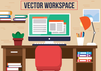 Free Red Chair Office Vector Desk - Kostenloses vector #382749