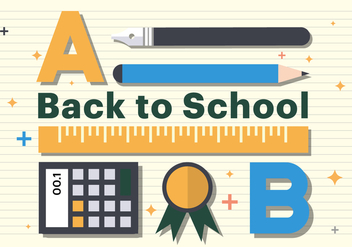 Free Flat Back to School Ruler Illustration - vector gratuit #382819