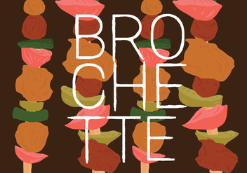 Free Colorful Brochette Food Vector - бесплатный vector #382869