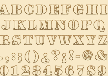 Stempel Outline Type - бесплатный vector #382919