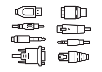 Free Connection Plug Icons - Kostenloses vector #382999