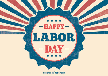 Retro Labor Day Illustration - бесплатный vector #383039