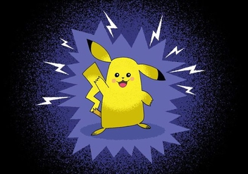 Pokemon Pokemon Pikachu character - vector gratuit #383099