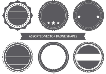 Blank Vintage Badge Shapes - vector gratuit #383239