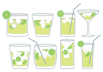 Caipirinha Cocktail Set - vector #383299 gratis