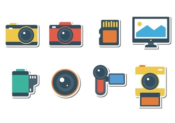 Free Sticker Photography Icons - vector #383309 gratis