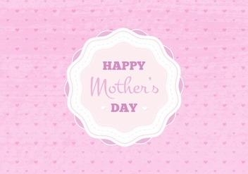 Free Vector Happy Moms Day Illustration - бесплатный vector #383349
