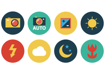 Free Flat Camera Icons - vector gratuit #383429