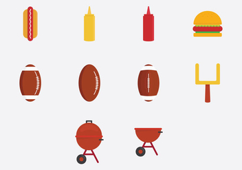 Tailgate Party Icon Set - vector gratuit #383449