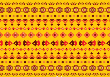 Ethnic Seamless Orange Background - vector #383589 gratis