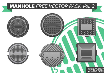 Manhole Free Vector Pack Vol. 3 - vector gratuit #383679