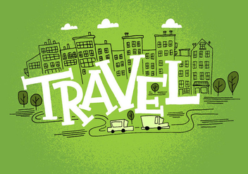 Travel Cityscape Design - vector gratuit #383719