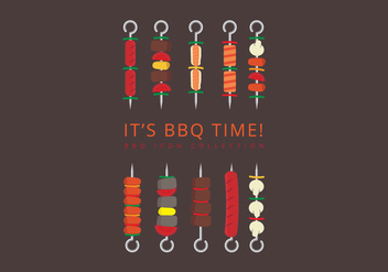 Brochette Icon Set - Free vector #383729