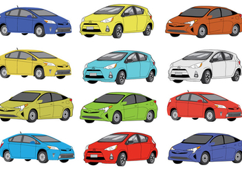 Free Prius Colour Icons - Free vector #383789