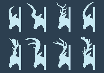 Free Kudu Icons Vector - Free vector #383849