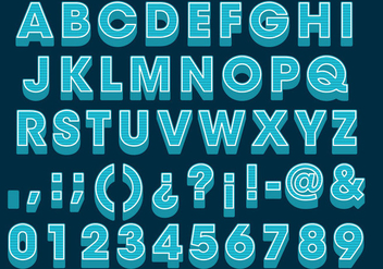 Blue 3D Type - vector #383899 gratis